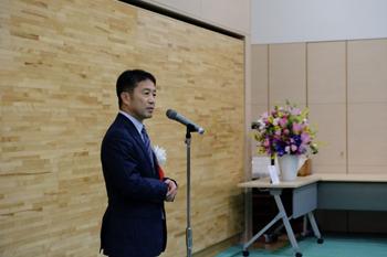 祝賀会での松山病院長挨拶