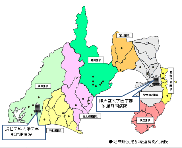 拠点病院所在地図