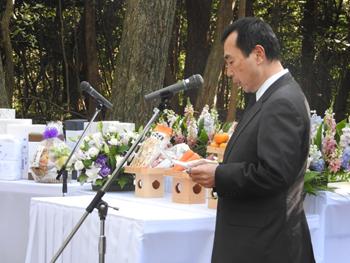 浦野哲盟副学長の挨拶