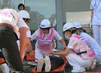 地震防災訓練と消防訓練